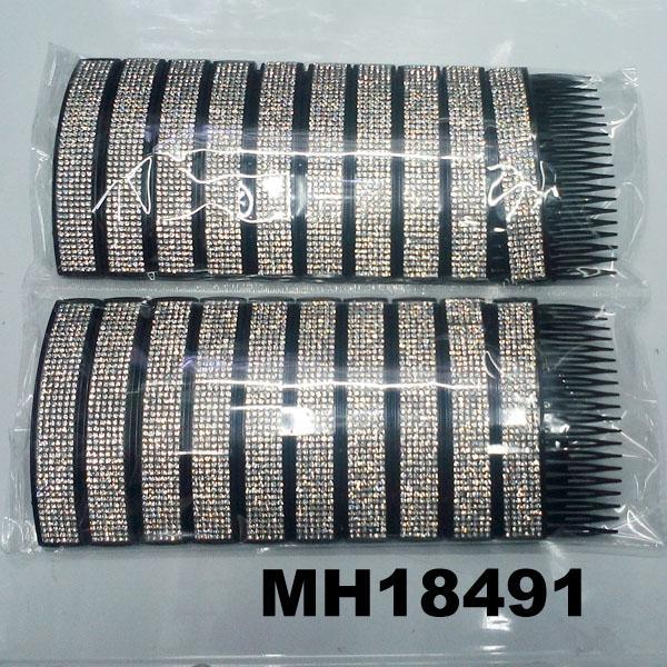 fashion women 6 rows crystal rhinestone plastic hair combs wholesale 1