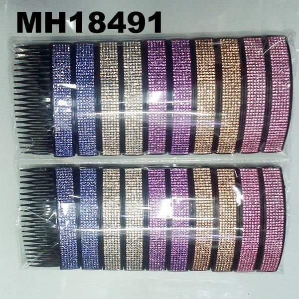 fashion women 6 rows crystal rhinestone plastic hair combs wholesale 2