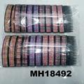 fashion women 6 rows crystal rhinestone plastic hair combs wholesale 3