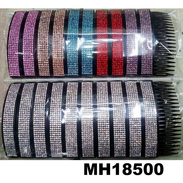 fashion women 6 rows crystal rhinestone plastic hair combs wholesale 6