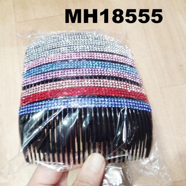 fashion women 6 rows crystal rhinestone plastic hair combs wholesale 9