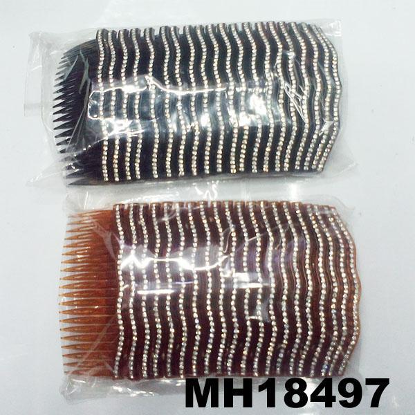 fashion women 6 rows crystal rhinestone plastic hair combs wholesale 11