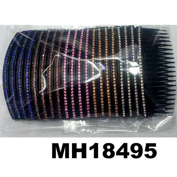 fashion women 6 rows crystal rhinestone plastic hair combs wholesale 13