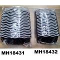 fashion women 6 rows crystal rhinestone plastic hair combs wholesale 16