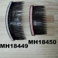 fashion women 6 rows crystal rhinestone plastic hair combs wholesale 17