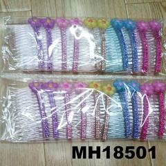 cheap wholesale kids girls resin flower plastic hair combs