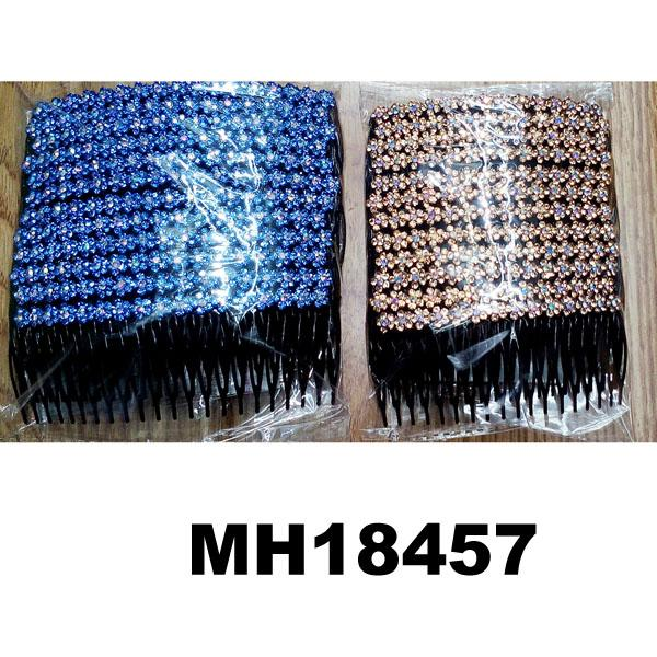 wholesale cheap crystal stone flower plastic hair combs 1