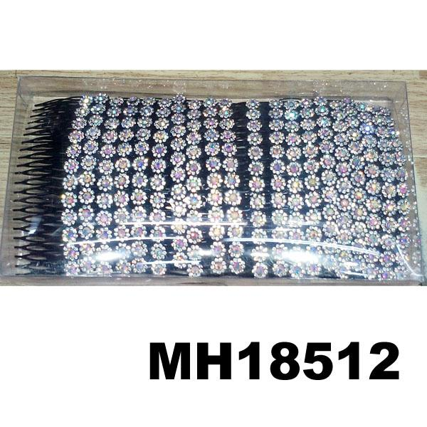 wholesale cheap crystal stone flower plastic hair combs 2