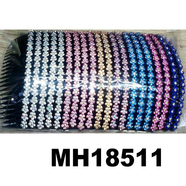 wholesale cheap crystal stone flower plastic hair combs 5