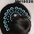 wedding bridal crystal stone flower metal hair comb 3