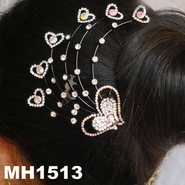 wedding bridal crystal stone flower metal hair comb 4