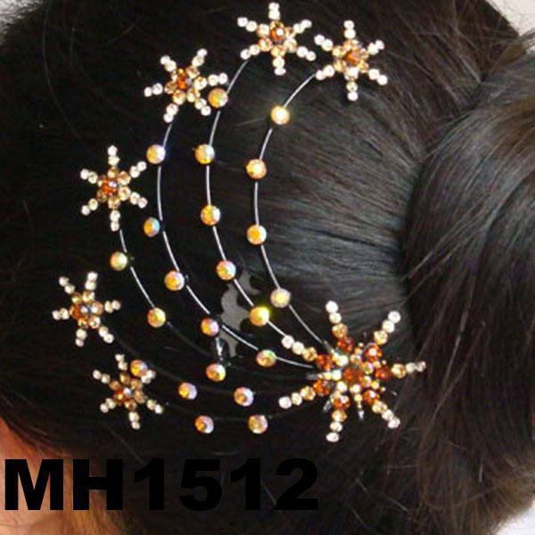 wedding bridal crystal stone flower metal hair comb 5