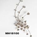 wedding bridal crystal stone flower metal hair comb 6