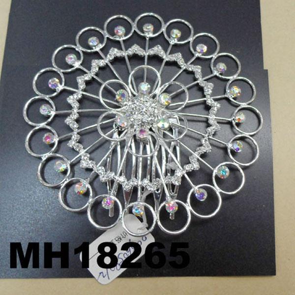 wedding bridal crystal stone flower metal hair comb 8