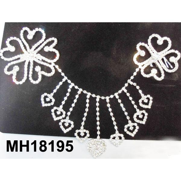 wedding bridal crystal stone double snowflake butterfly flower metal hair comb 6