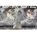 wedding bridal crystal stone double snowflake butterfly flower metal hair comb 8
