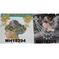 wedding bridal crystal stone double snowflake butterfly flower metal hair comb 16
