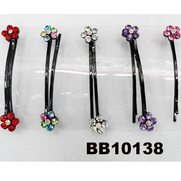women girls antique crystal stone flower metal hair pin wholesale 8