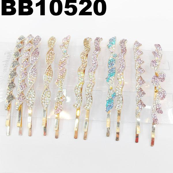 antique crystal stone flower metal hair clips wholesale 5