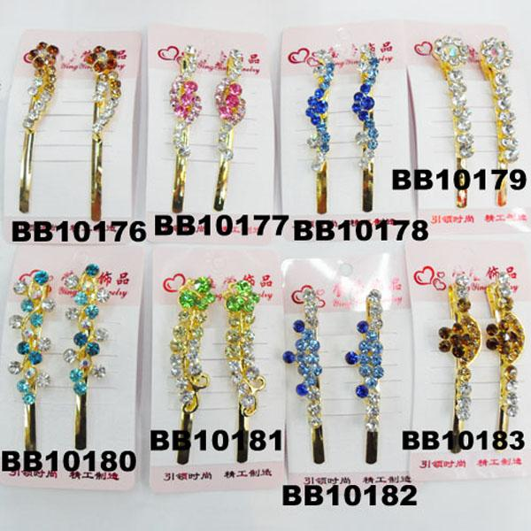 antique crystal stone flower metal hair clips wholesale 7