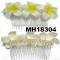 fashion women fabric rose flower hair flower comb wholesale 5