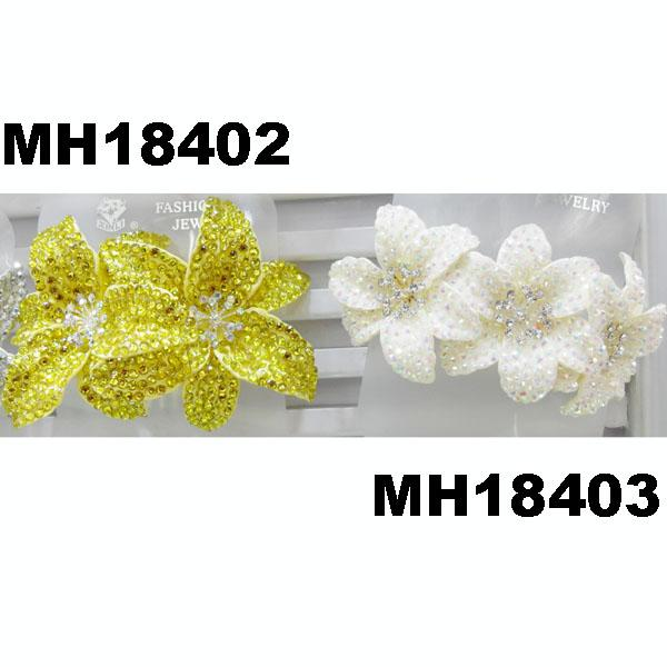 fashion women fabric rose flower hair flower comb wholesale 7