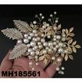 fashion women fabric rose flower hair flower comb wholesale 10