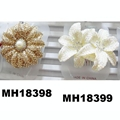 fashion women crystal stone double flower hair flower comb wholesale