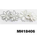 fashion women crystal stone double flower hair flower comb wholesale 4