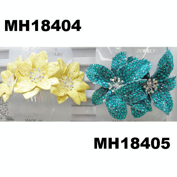 fashion women crystal stone double flower hair flower comb wholesale 5