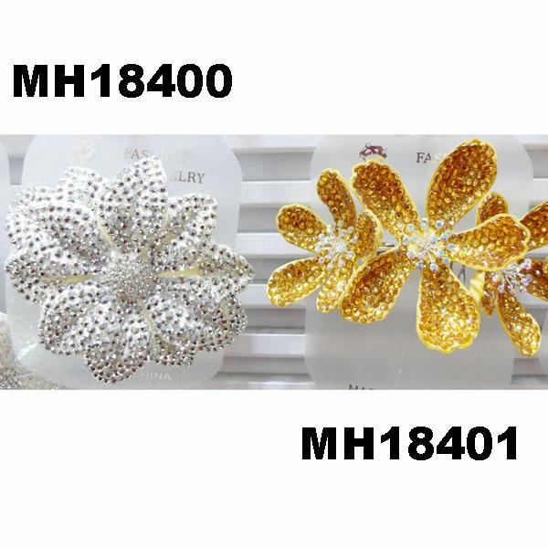 fashion women crystal stone double flower hair flower comb wholesale 6