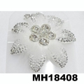 fashion women crystal stone double flower hair flower comb wholesale 7
