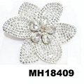 fashion women crystal stone double flower hair flower comb wholesale 8
