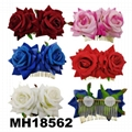fashion women crystal stone double flower hair flower comb wholesale 9