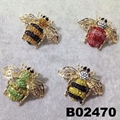 fashion crystal stone wasp bee insect brooch 1