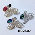 fashion crystal stone wasp bee insect brooch 3