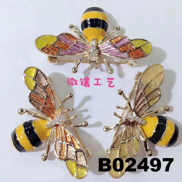 fashion crystal stone wasp bee insect brooch 4