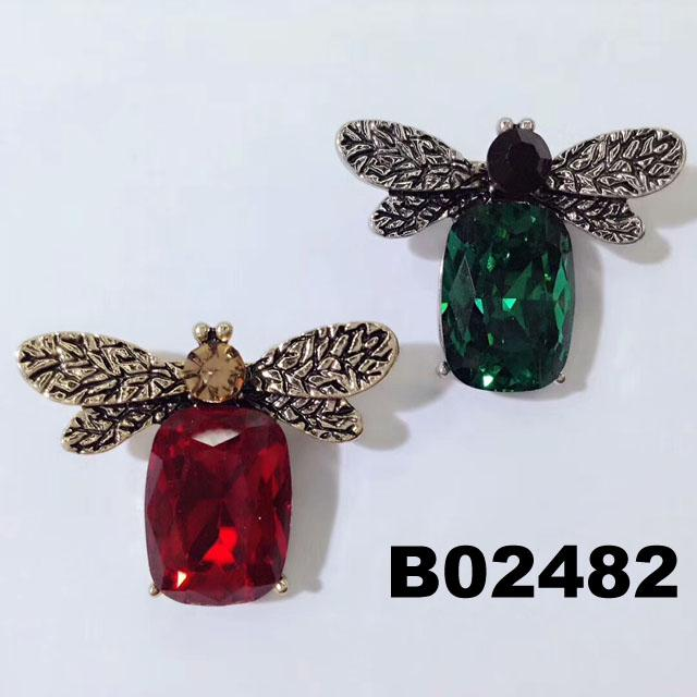 fashion crystal stone wasp bee insect brooch 5