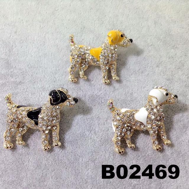 fashion korean crystal stone flamingo brooch pins wholesale 5