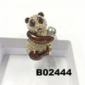 fashion korean crystal stone flamingo brooch pins wholesale 8