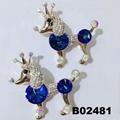 fashion korean crystal stone flamingo brooch pins wholesale 9