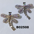 korean crystal stone dragonfly ouch brooch 2