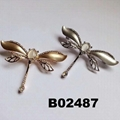 korean crystal stone dragonfly ouch brooch 3