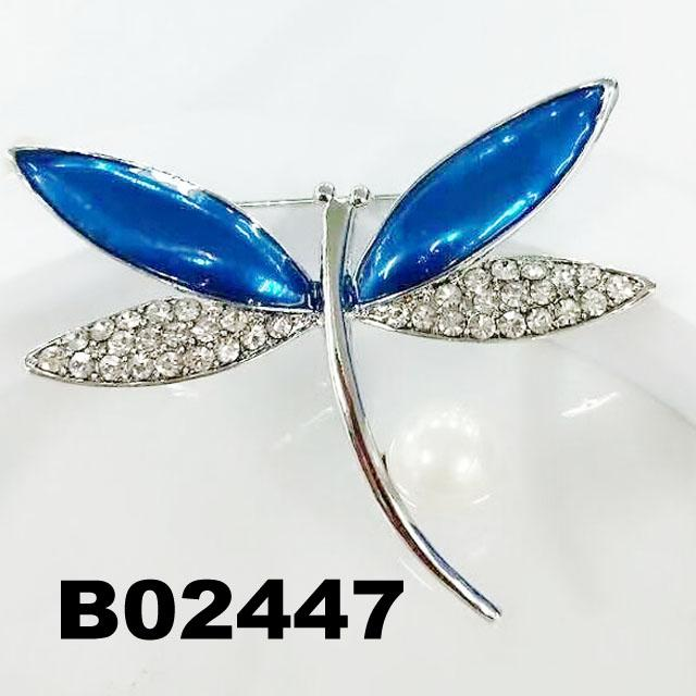 korean crystal stone dragonfly ouch brooch 6