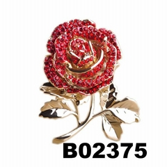wholesale fashion women girls crystal stone rose flower brooch ouch