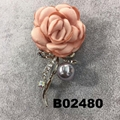 wholesale fashion women girls crystal stone rose flower brooch ouch 6