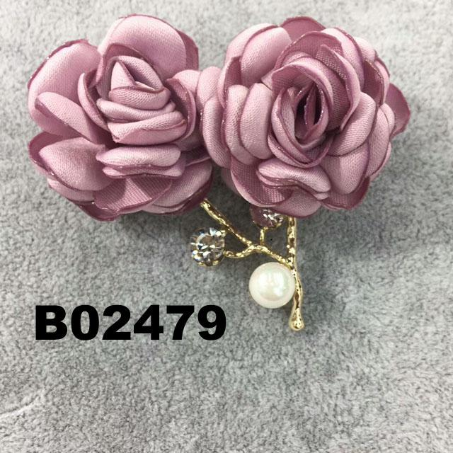 wholesale fashion women girls crystal stone rose flower brooch ouch 7