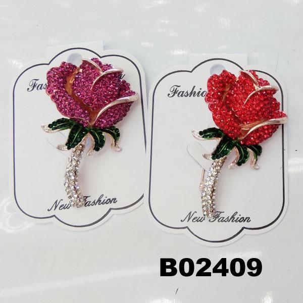 fancy women girls crystal stone rose flower brooches wholesale 1