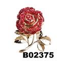 fancy women girls crystal stone rose flower brooches wholesale 2