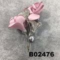 fancy women girls crystal stone rose flower brooches wholesale 3